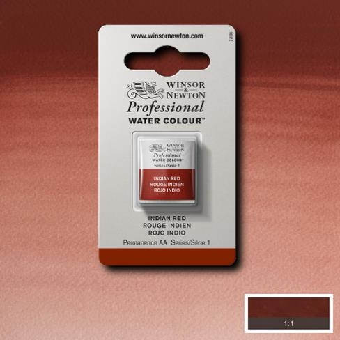 Tinta Aquarela Profissional W&N Indian Red Pastilha S1 (0101317) - Papelaria Botafogo