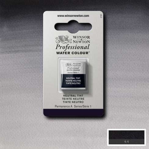 Tinta Aquarela Profissional W&N Neutral Tint Pastilha S1 (0101430) - Papelaria Botafogo