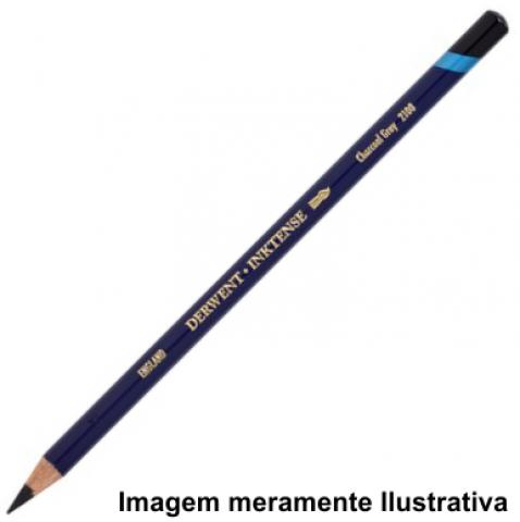 Lápis Inktense Derwent Charcoal Grey (nº 2100) un. - Papelaria Botafogo