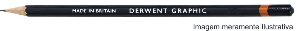 Lápis Graphic Derwent Graduado 2B un. - Papelaria Botafogo