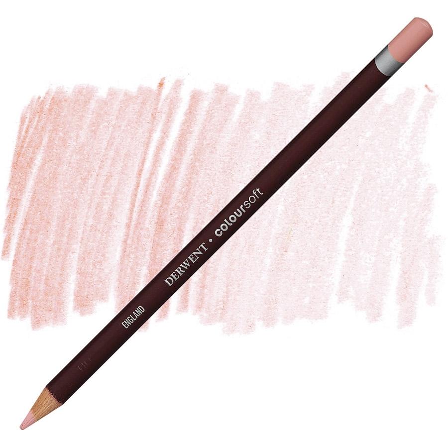 Lápis Coloursoft Derwent Blush Pink (C180) un. - Papelaria Botafogo