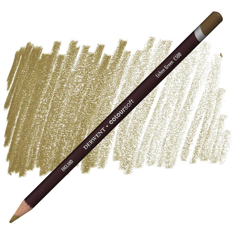 Lápis Coloursoft Derwent Lichen Green (C500) un. - Papelaria Botafogo