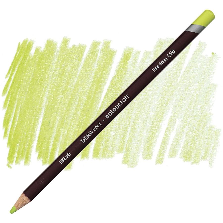 Lápis Coloursoft Derwent Lime Green (C460) un. - Papelaria Botafogo