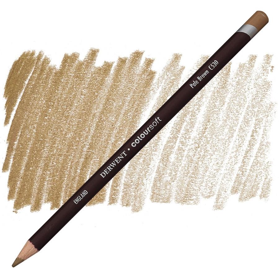 Lápis Coloursoft Derwent Pale Brown (C530) - Papelaria Botafogo