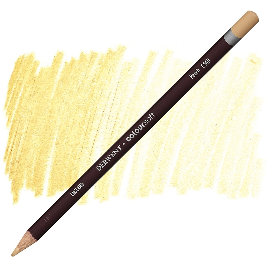 Lápis Coloursoft Derwent Peach (C560) un. - Papelaria Botafogo