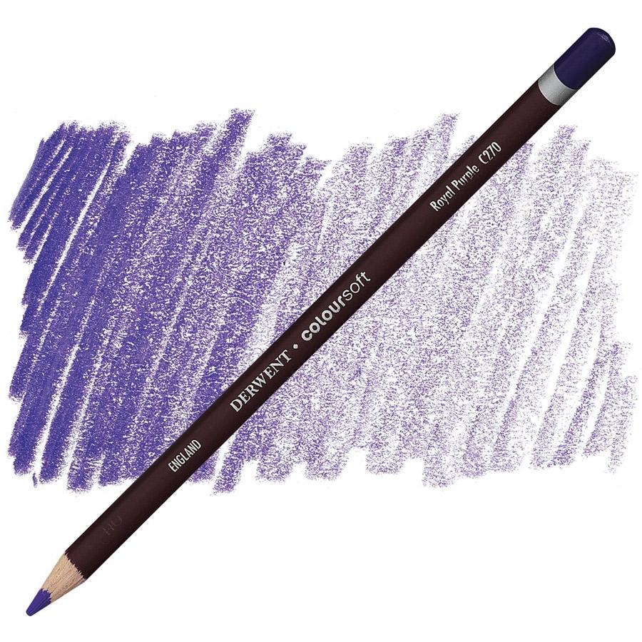 Lápis Coloursoft Derwent Royal Purple (C270) un. - Papelaria Botafogo