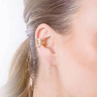 Brinco semijoia Piercing Fake sem furo Opção banho ouro e ródio