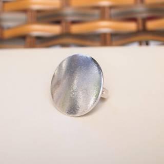 Anel semijoia geométrico círculo banho de ródio