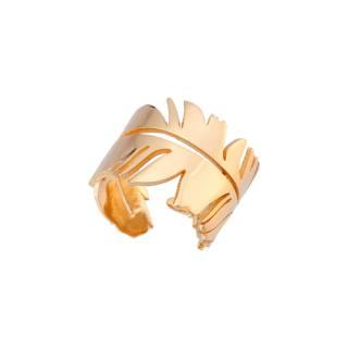 Anel semijoia Folha design banhado a ouro