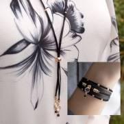 Composição Colar C37309 + Bracelete P37367 banhado a ouro