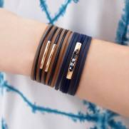 Composição Bracelete P37524+ Pulseira P37520 banhada a ouro