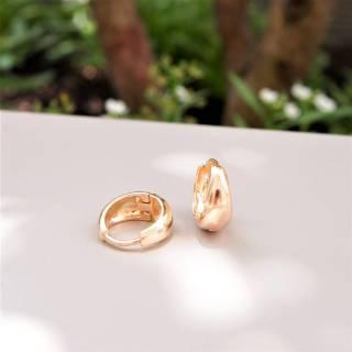 Brinco semijoia Argola clic banhado a ouro (Opção: Banho ouro e banho ródio)