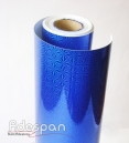 Vinil Holográfico Giro Rápido Azul c/1,00m/lg