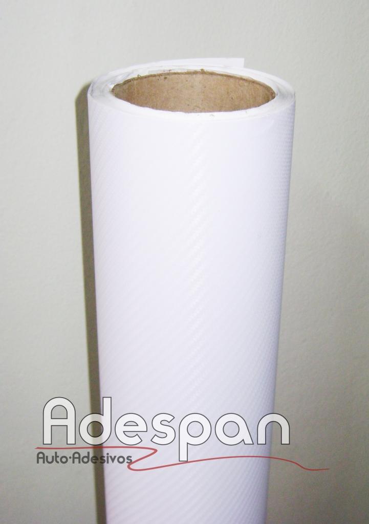 Vinil Fibra de Carbono Branco Texturizado c/1,38m/lg
