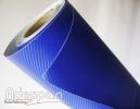 Vinil Fibra de Carbono Azul Royal Texturizado c/1,38m/lg