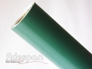 Vinil Fibra de Carbono Verde Texturizado c/1,38m/lg | ADESPAN