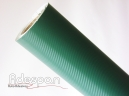 Vinil Fibra de Carbono Verde Texturizado c/1,38m/lg