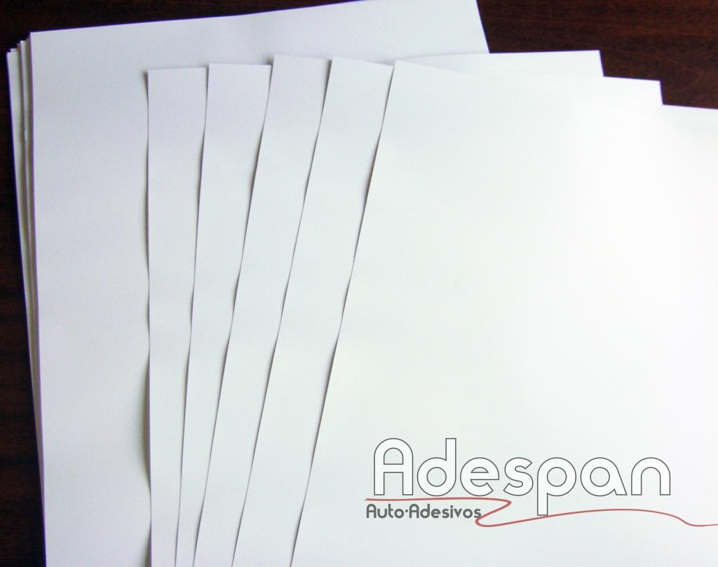 Vinil Laser Branco Fosco 0,33x0,48m c/100 folhas  SUPER A3