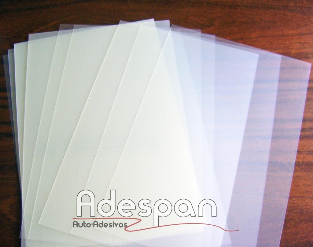 Pvc Laser Cristal 300MIC 0,33x0,48m c/100 folhas
