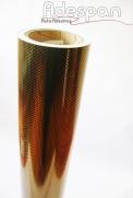Vinil Fibra de Carbono Ouro (Fibraline) c/1,38m/lg | ADESPAN