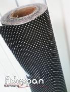 Tecido Autocolante Bolinha Preto/Branco | ADESPAN