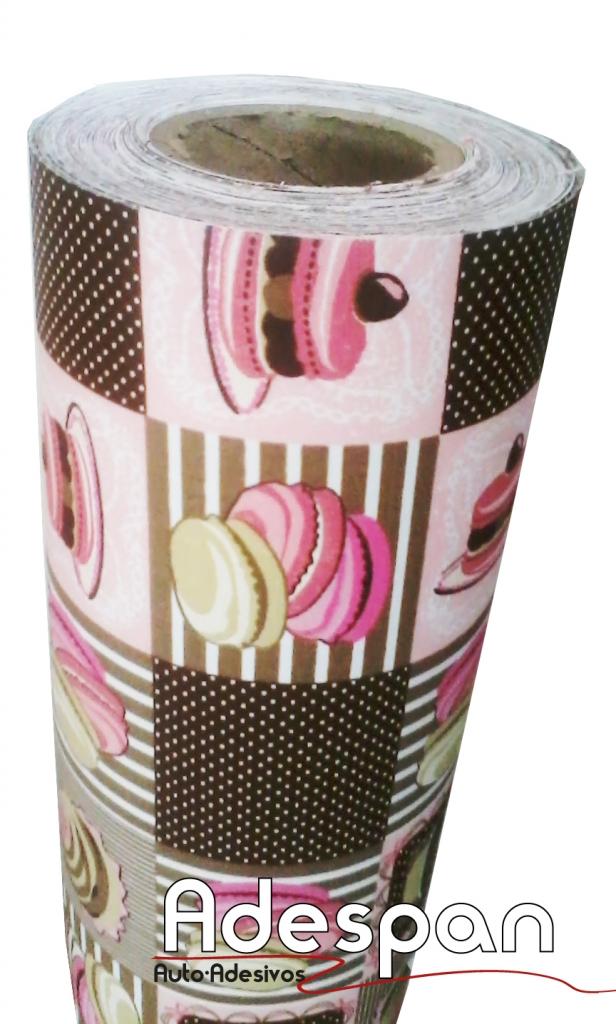 Tecido Autocolante Cupcake