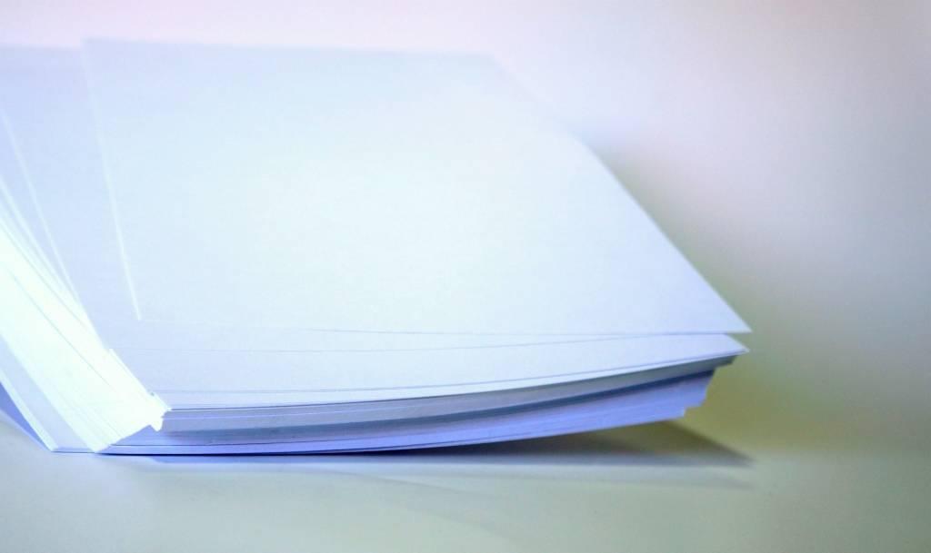 Vinil Adesivo para Jato de Tinta Branco 100 FOLHAS A4 (210X297MM)