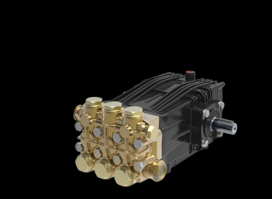 BOMBA 350 BAR UDOR CKD 6.0/51 350 BAR! 22 LITROS MINUTO! 1750 RPM! EIXO 24mm 5.000 PSI - Mundo Azul