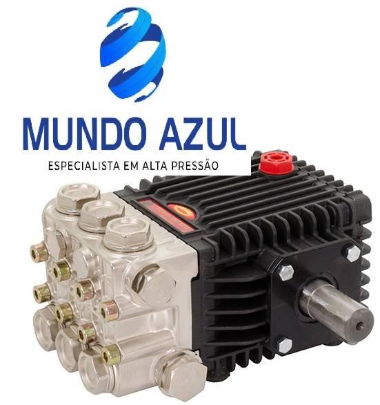 BOMBA ALTA PRESSÃO INTERPUMP VHT6315 !15 lt/min, 150 bar! 1750 RPM EIXO macho 24mm - Mundo Azul