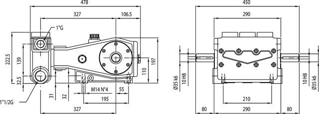 BOMBA TRIPLEX HPP EL164/90 90BAR 164L 700 RPM - Mundo Azul
