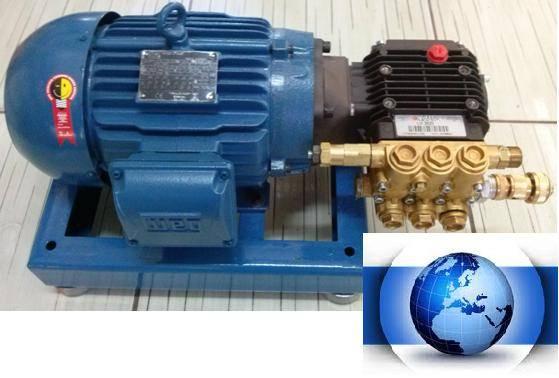 CONJUNTO MOTOR/BOMBA ALTA PRESSÃO 2400 LIBRAS 12 L/MINUTO 5,0 CV - LAVACAR  - Mundo Azul