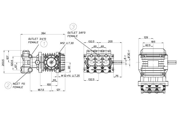 BOMBA HPP CLW 49/200 1000 RPM 49 L/MIN. 200 BAR - Mundo Azul