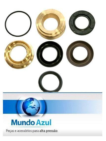 KIT VEDAÇÃO PISTÃO D.20 COMPLETO COM BRONZE GENERAL PUMP/INTERPUMP W921/W916/TS1021/SERIE 47  - Mundo Azul