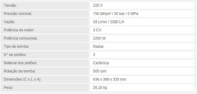 MOTOBOMBA PARA CLIMATIZAÇÃO MBC 18/750 18 L/min / 1080 L/h 750 lbf/pol² 220V MONOFÁSICO - Mundo Azul