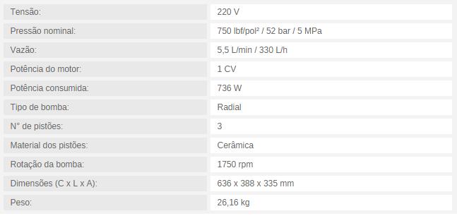 MOTOBOMBA PARA CLIMATIZAÇÃO MBC 5/750 5,5 L/min / 330 L/h 750 lbf/pol² 220 MONOFASICO - Mundo Azul