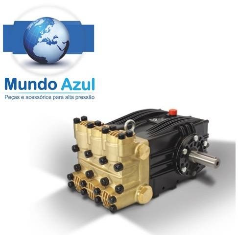 BOMBA ALTA PRESSÃO TRIPLEX MAVX 3.000 LIBRAS 200 BAR! 110 LITROS MINUTO! 1150 RPM! EIXO 35mm - Mundo Azul