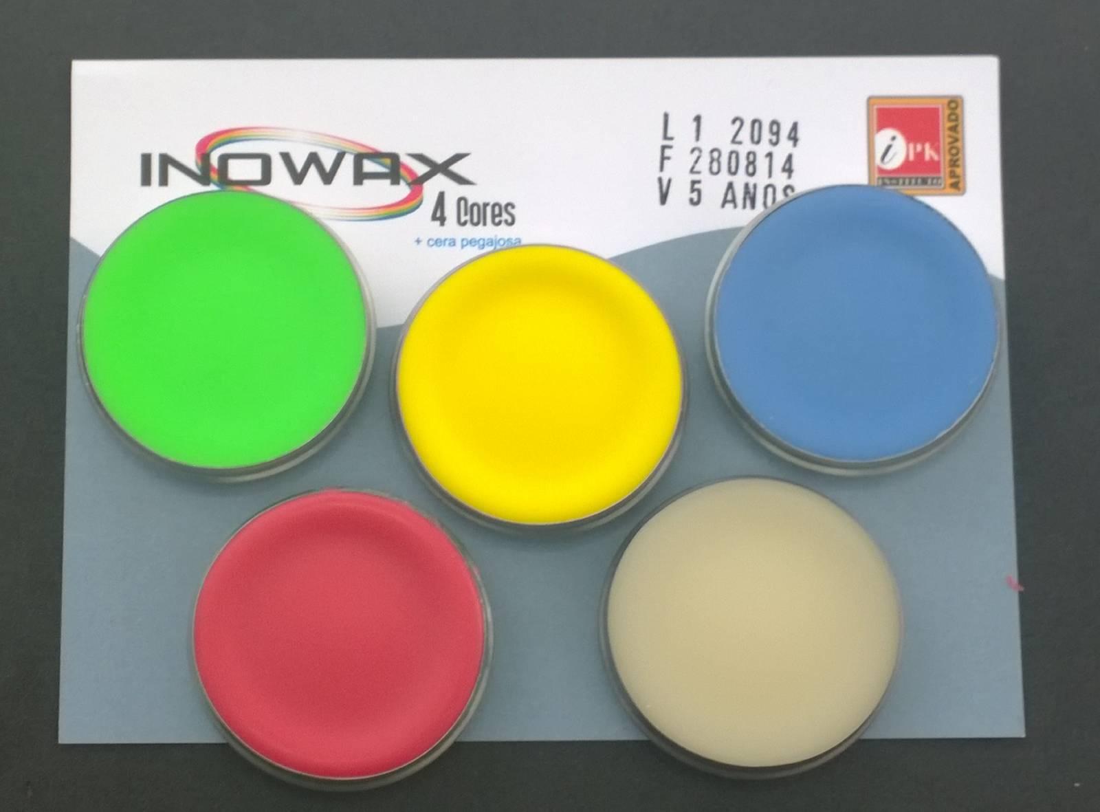 INOWAX-101030- kit 4 cores + pegajosa (sistema Peter Thomas)