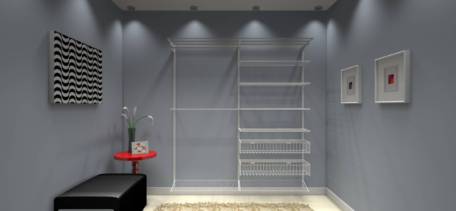 Closet Completo - Kit CL180  - 1,80 metros