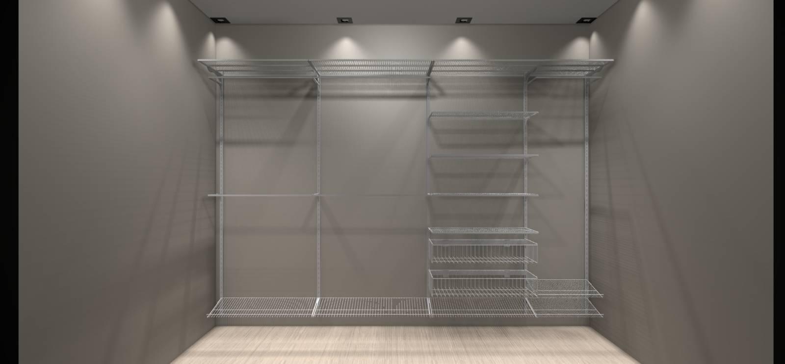 Closet Completo - Kit CL250  - 2,5 metros