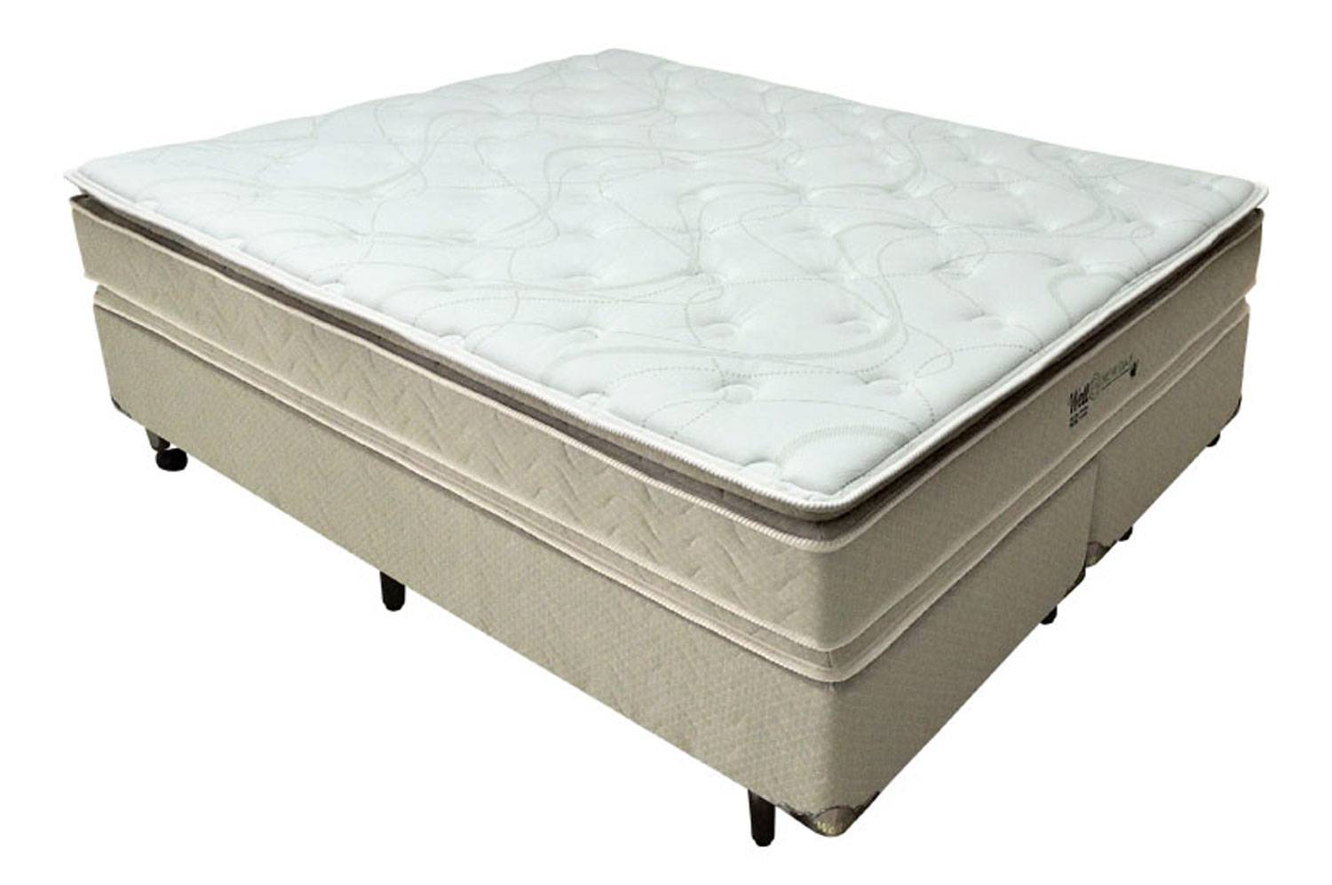 Conjunto Cama Box New Day Pillow Top Double Face Well B - All Home