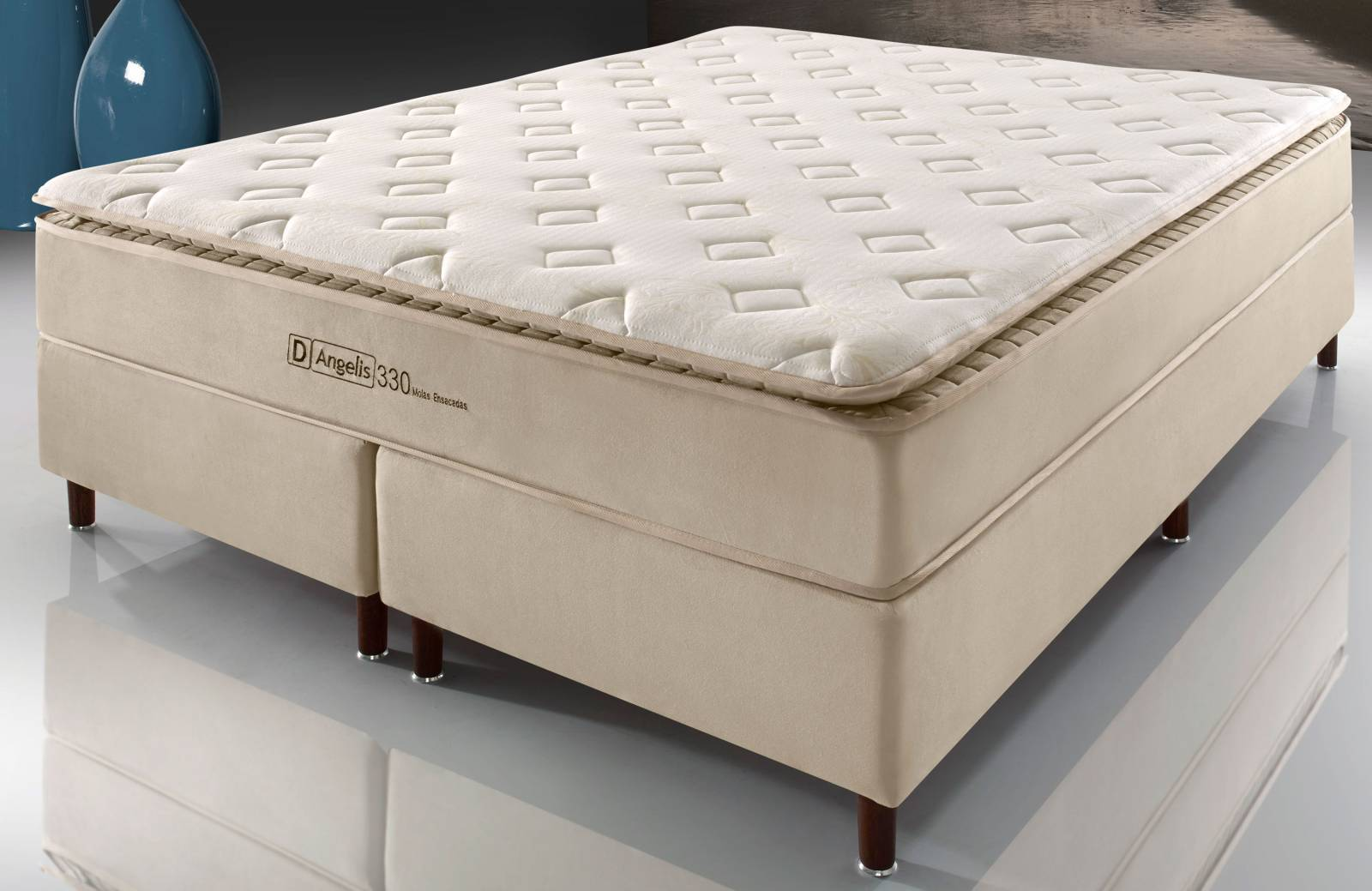 Conjunto Cama Box DG 330 Visco Gel D'Angelis - All Home