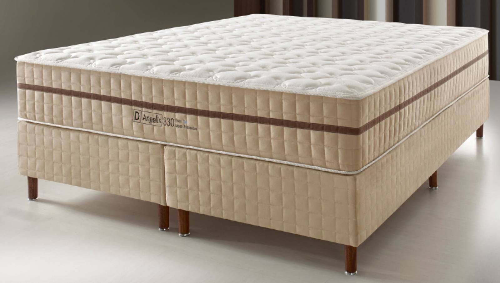 Conjunto Cama Box DG 330 Bege D'Angelis - All Home