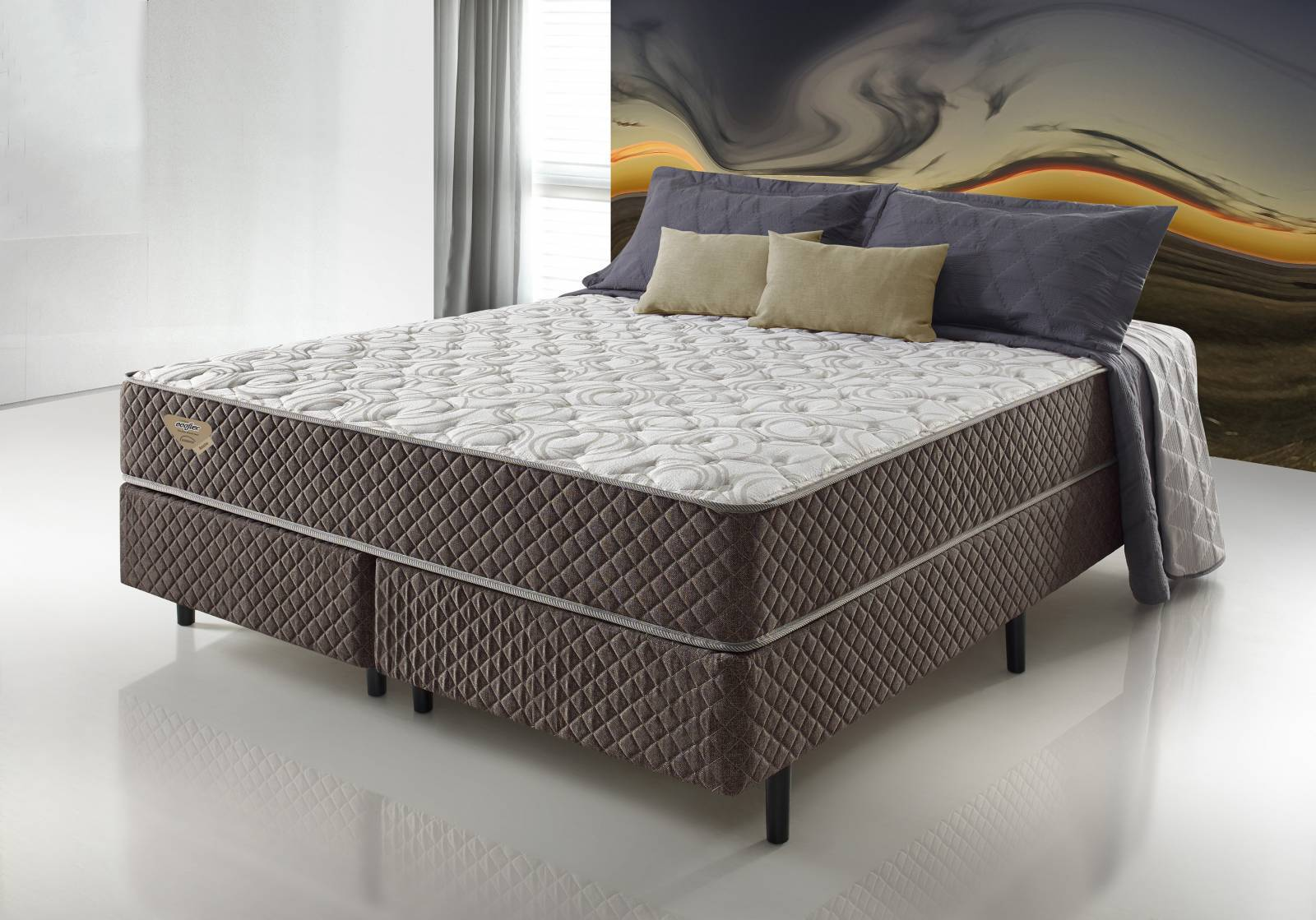 Conjunto Cama Box Resistive Ecoflex - All Home
