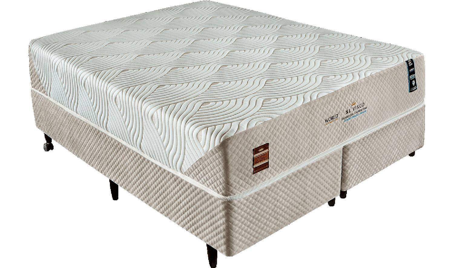 Conjunto Cama Box XL Visco King Koil - All Home