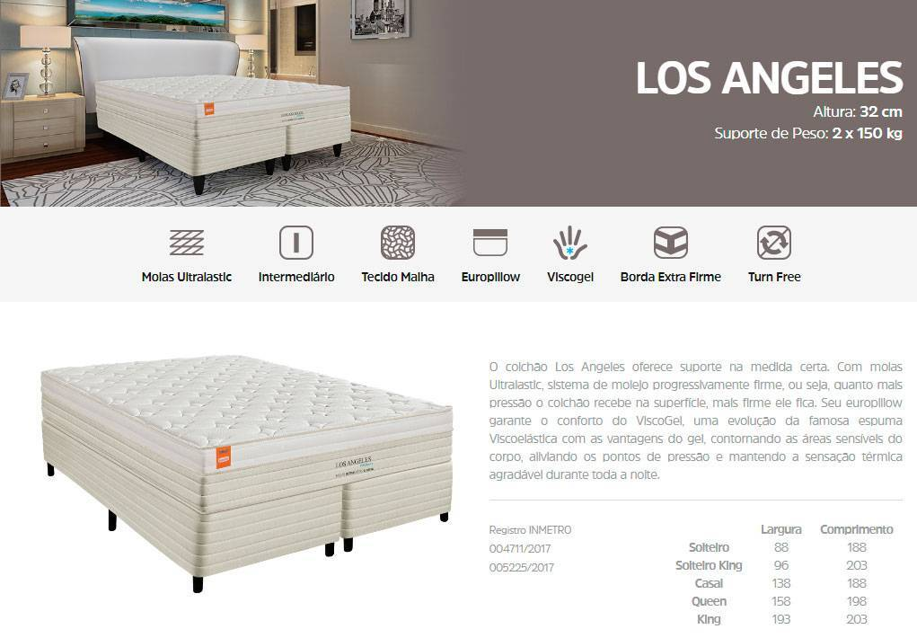 Conjunto Cama Box Los Angeles Inducol - All Home