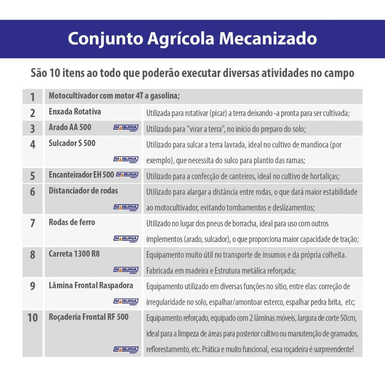 Combo Maquinafort + Motocultivador 6.5cv a Gasolina - BSS Maquinas