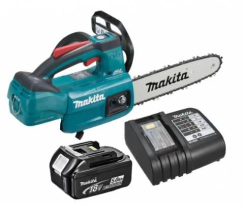 Motosserra Makita + Bateria 18V 5.0Ah + Carregador DUC254ZC - BSS Maquinas