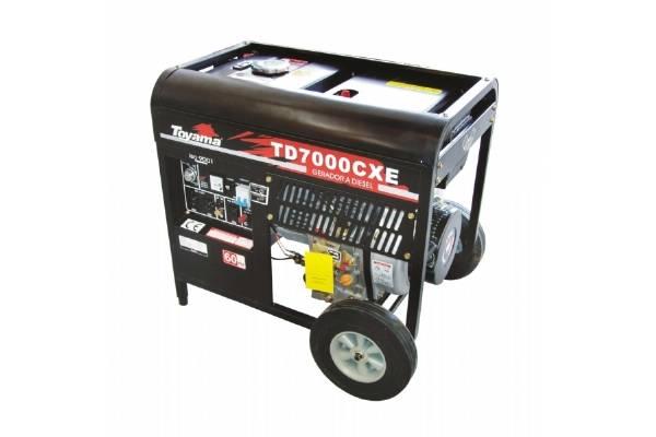 Gerador/Motosoldador diesel TOYAMA TD7000SXEW 5 Kva - BSS Maquinas