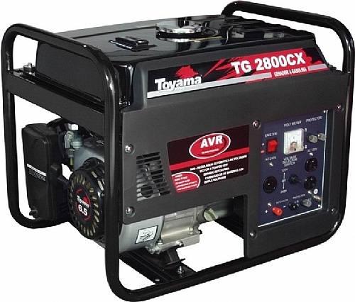 Gerador gasolina TOYAMA TG2800CX 2400 watts, Em PROMOÇÃO!!! - BSS Maquinas