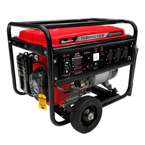 Gerador gasolina TOYAMA TG8000CXER 7 Kva - BSS Maquinas